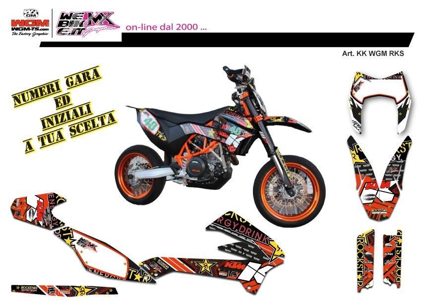 Kit adesivi MX Rockstar tribute for KTM 690 SMC-R